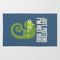introvert Area & Throw Rugs featuring Most Likely to Recede by David Olenick
