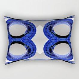 A Blue Paisley Rectangular Pillow