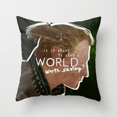 A World Worth Saving Throw Pillow