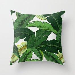 banana leaf palms Throw Pillow
