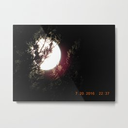 road trip, moon thru the trees, detail, moon, night, #4 Metal Print