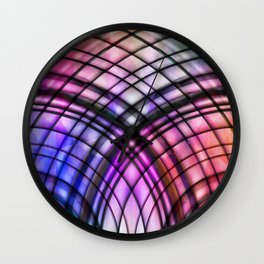 lead-glass window Wall Clock