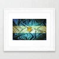 argentina Framed Art Prints featuring Argentina flag. by DesignAstur