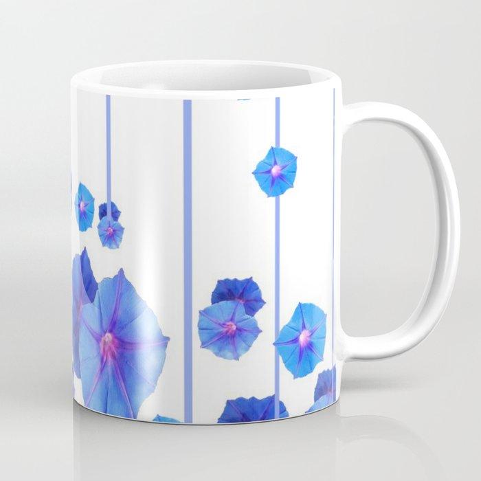 BABY BLUE MORNING GLORIES RAIN ABSTRACT ART Coffee Mug