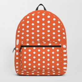 Orange and white university clemson alumni team sports football college Backpack
