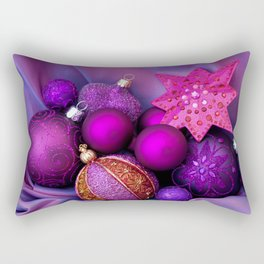 Pink And Purple Christmas Glamour Rectangular Pillow