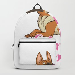 Only Talking To My German Shepherd Today Dog Pet Backpack