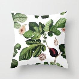Figs White Throw Pillow