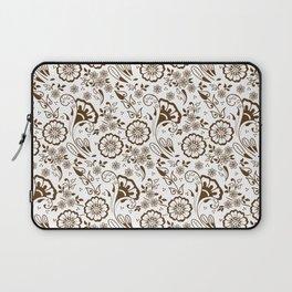 Mehndi or Henna Florals Laptop Sleeve