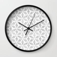 Striped Stars Wall Clock