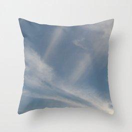 Spring Evening Sky // Cloud Photography Throw Pillow