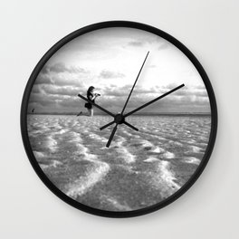 Beach Levitating Wall Clock