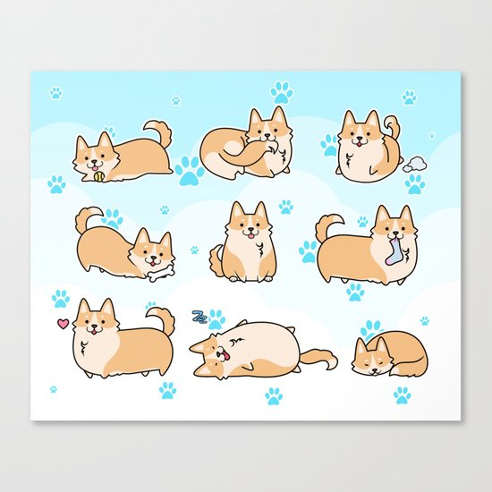 I love corgis Canvas Print