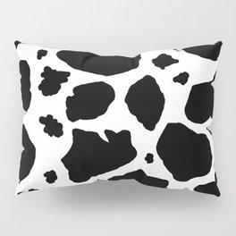 black and white animal print cow spots Pillow Sham