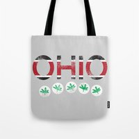 ohio Tote Bags featuring Ohio by Amanda Pavlich