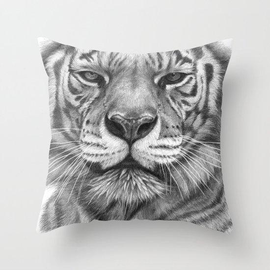 White Tigress  G2013-071 Throw Pillow
