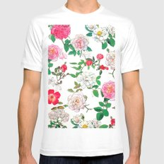 Pattern of vintage rose MEDIUM Mens Fitted Tee White