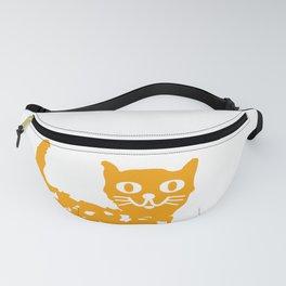 Orange cat illustration, cat pattern Fanny Pack
