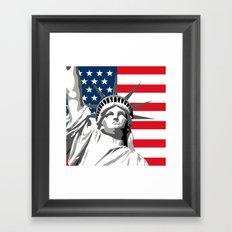 Pop Art Statue Of Liberty Framed Art Print
