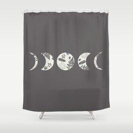 Lunar Nature Shower Curtain