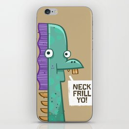 Neck Frill iPhone Skin