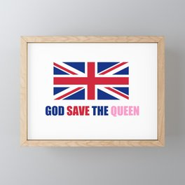 motto of uk 2– god save the queen Framed Mini Art Print