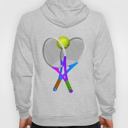 Tennis Rackets and Ball Hoody