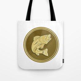 Barramundi Gold Coin Retro Tote Bag