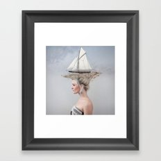 Sailing - White Framed Art Print