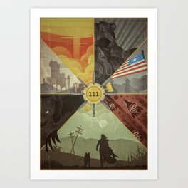 War Never Changes Art Print