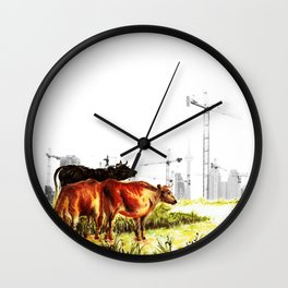 Cow detail 2 Wall Clock
