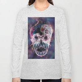 Psychedelic psy·che·del·ic Skull Long Sleeve T-shirt