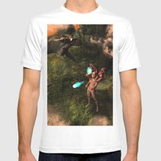 The dragon  Mens Fitted Tee White MEDIUM