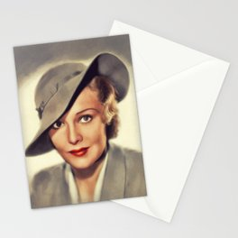 Madeleine Carroll, Vintage Actress Stationery Cards