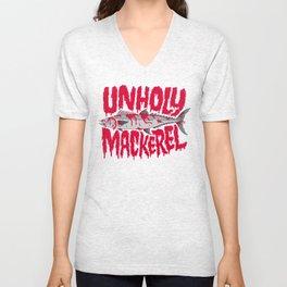 UNHOLY MACKEREL Unisex V-Neck