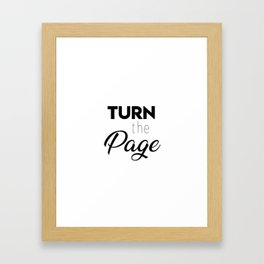 Turn the page Framed Art Print
