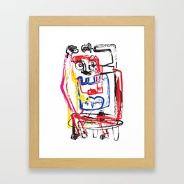 Angry Man | Graffiti Style Art Prints | Graffiti Art Prints Framed Art Print