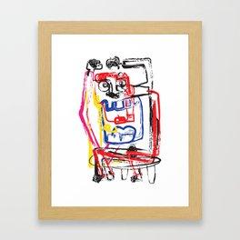 Angry Man   Graffiti Style Art Prints   Graffiti Art Prints Framed Art Print