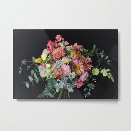 Lush Peachy Bouquet Metal Print