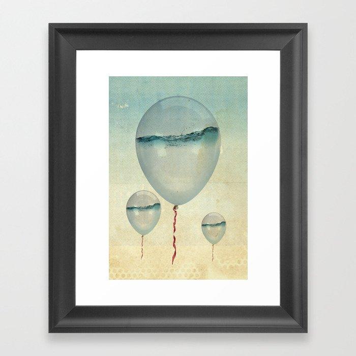 Wet Weather balloons Framed Art Print