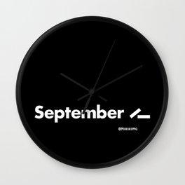 September 11 (2001) - Black Wall Clock