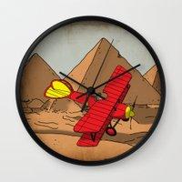 dreamer Wall Clocks featuring Dreamer by Janko Illustration