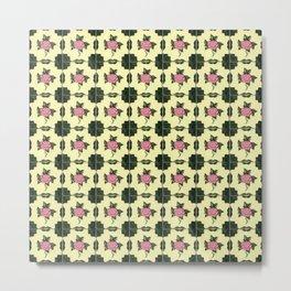 Floor Series: Peranakan Tiles 62 Metal Print
