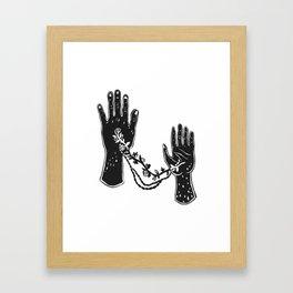 Joined Hands Framed Art Print