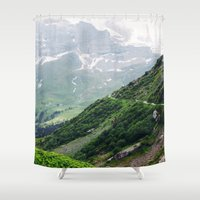 switzerland Shower Curtains featuring Switzerland by Tana Helene