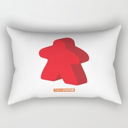 Large and in Charge Meeple Rectangular Pillow