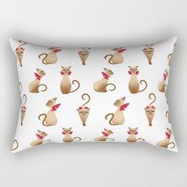 Siamese Sam (White) Rectangular Pillow