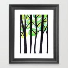 blacks trees Framed Art Print