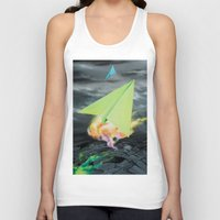 planes Tank Tops featuring Paper planes by VikaValter
