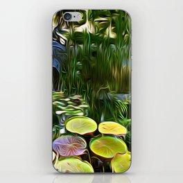 Greenery Pond iPhone Skin